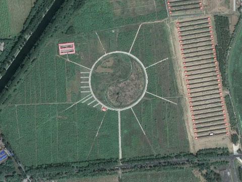 北京昌平的阴阳图案